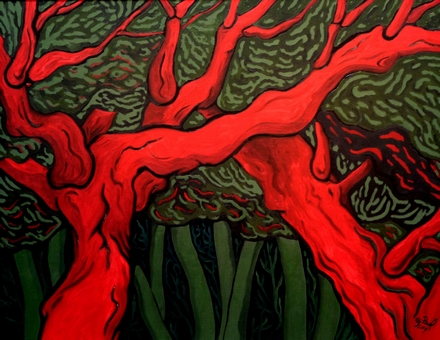 arbres écarlates